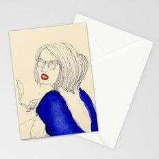 Smoking girl Stationery Cards
