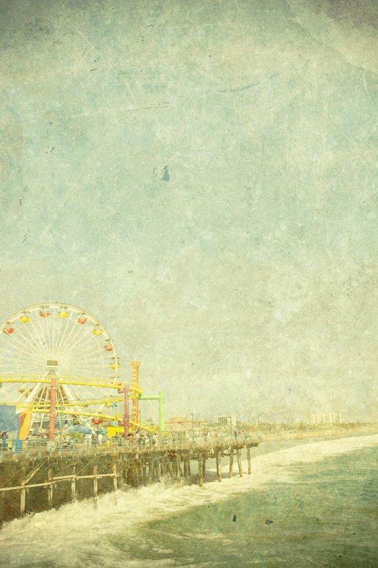 Santa Monica Ferris Wheel Art Print