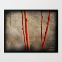 The Red Branches Canvas Print