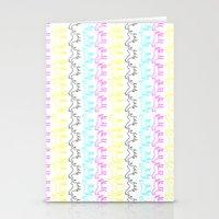 CMYK Unicorn Stripes Stationery Cards