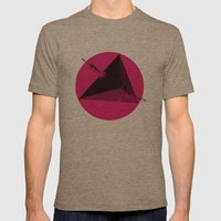 TETHRAEDON SUNSET Mens Fitted Tee Tri-Coffee SMALL