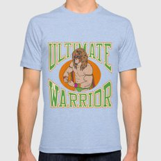 Ultimate Warrior Mens Fitted Tee Tri-Blue SMALL
