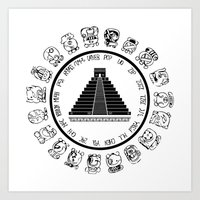 The Maya Calendar - Digi… Art Print