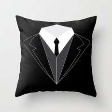 Suit Up Throw Pillow