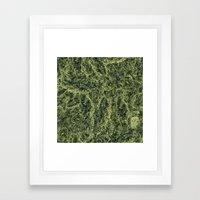 Plant Matter Pattern Framed Art Print