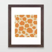 Orange Roses Framed Art Print