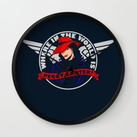 Where in the World is Peggy Carter? Wall Clock