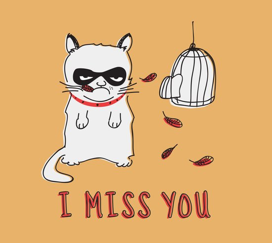 I Miss You Art Print
