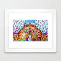 Still Life With Cats Framed Art Print