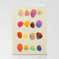 Painted Pebbles 4 Stationery Cards
