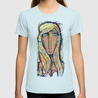 Why the long face?  Womens Fitted Tee Light Blue SMALL