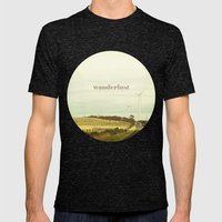 Wanderlust Mens Fitted Tee Tri-Black SMALL