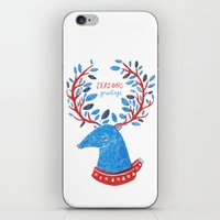 Reindeer Seasons Greetings iPhone & iPod Skin