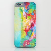 iPhone & iPod Case featuring ETHERIAL DAYS - Stunning Floral Landscape Nature Wildflower Field Colorful Bright Floral Painting by EbiEmporium