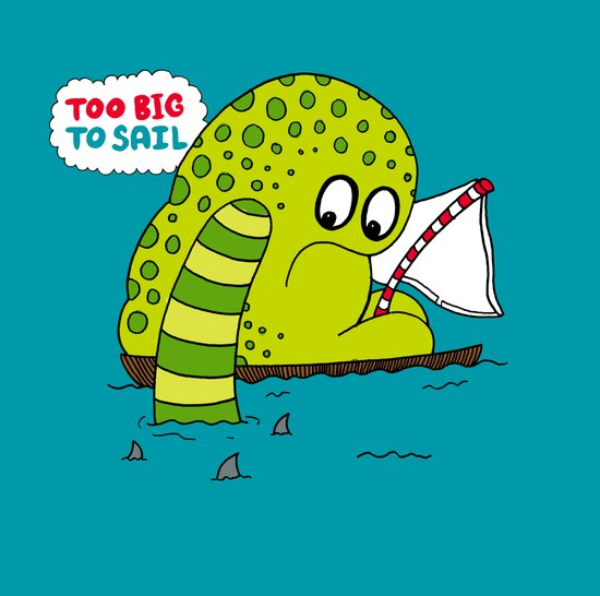 Too Big To Sail Art Print