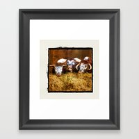 The Laughing Cow. Framed Art Print
