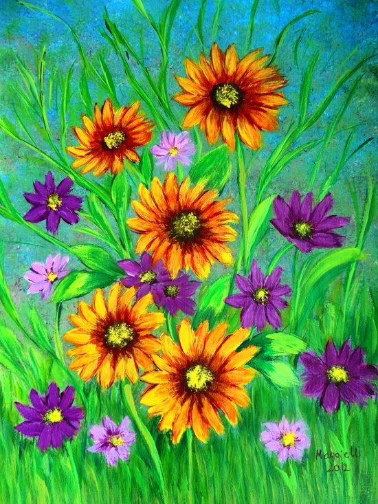 Flowers in my garden  Art Print