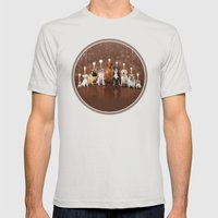 Hot Dog, It's Hanukkah! Mens Fitted Tee Silver SMALL