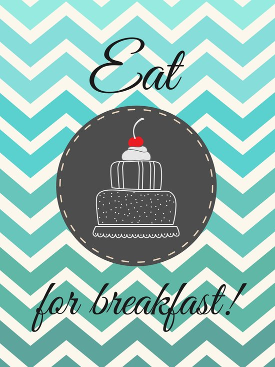 Eat Cake For Breakfast! Canvas Print