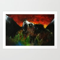 Between the Mountains Art Print