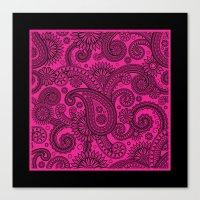 Paisley Pink Canvas Print