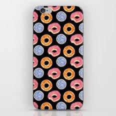 sweet things: doughnuts (black) iPhone & iPod Skin