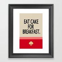 Kate Spade Inspired Eat Cake For Breakfast Framed Art Print