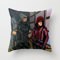 Arrowverse Throw Pillow