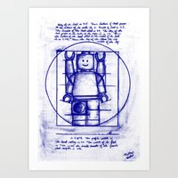 LEGO Vitruvian (Mini)-Figure  Art Print