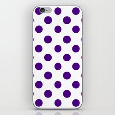 Polka Dots (Indigo/White) iPhone & iPod Skin