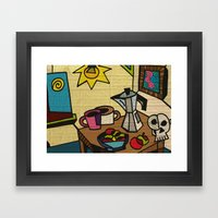 Breakfast In Cubism Framed Art Print
