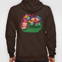 Love Angel - Fun, sweet, unique, creative and very colorful, original, acrylic children illustration Hoody