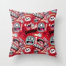 AAAGHHH! PATTERN! Throw Pillow