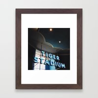 Tiger Stadium  Framed Art Print