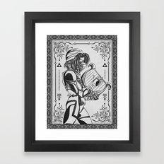 Legend of Zelda Shiek Princess Zelda Geek Line Art Framed Art Print