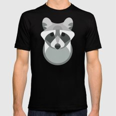 Raccoon SMALL Black Mens Fitted Tee