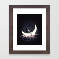 Moon Sailing Framed Art Print