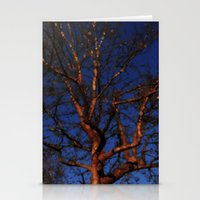 Tree Of Colour: Blue Ver… Stationery Cards