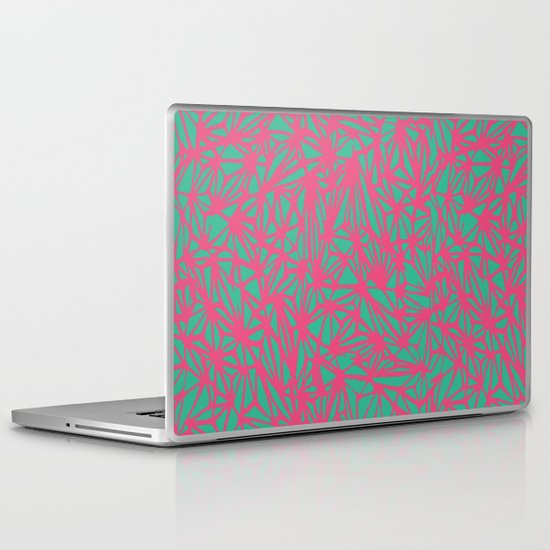Abstract Pattern - Green & Pink Laptop & iPad Skin