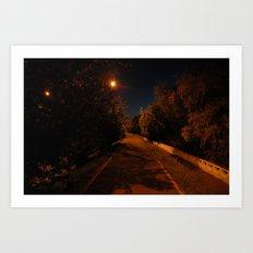 Night near the river Art Print