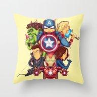The Avenger Throw Pillow