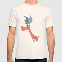 Pink Deer Mens Fitted Tee Natural SMALL