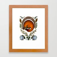 The Fox Lay Dying Framed Art Print