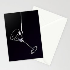 here's to drinks in the dark at the end of my rope Stationery Cards