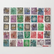 Old Stamps Canvas Print