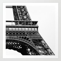 Eiffel BW No.2 Art Print