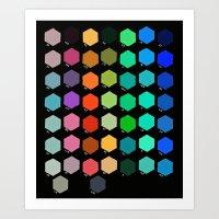 Darth Color Chart Art Print