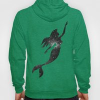 The Little Mermaid Cosmic Black and White Hoody