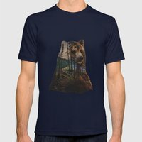 Bear Lake Mens Fitted Tee Navy SMALL