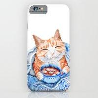 Happy Cat Drinking Hot C… iPhone 6 Slim Case